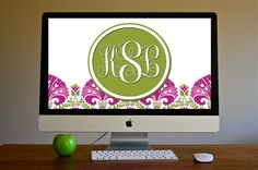 LOVE all her things! JULEP TULIP Vera Bradley Inspired Monogrammed Background!
