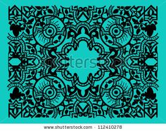 Vector vintage baroque border frame card cover flower motif arabic retro pattern ornate lace - stock vector