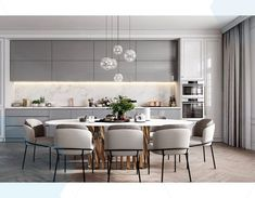 50 Affordable Kitchen Dining Room Design Ideas For Eating With Family - With space crunch becoming a common issue faced by people in setting up their houses, buying home furnishing products has become more challenging than. Kitchen Room Design, Modern Kitchen Design, Living Room Kitchen, Dining Room Design, Interior Design Kitchen, Home Design, Modern Interior, Kitchen Decor, Design Ideas