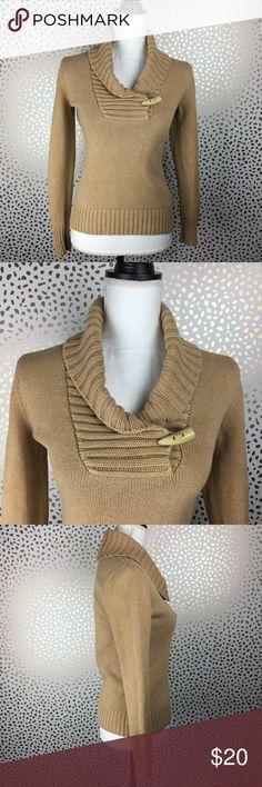 "Lauren Ralph Lauren Tan Sweater Excellent preloved condition. Beautiful Cotton Sweater  Size XS Armpit to armpit: 16"" Length: 22"" Sleeves: 23"" Lauren Ralph Lauren Sweaters"