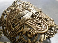 Art Nouveau Dragonfly Cuff