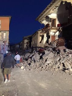 A 6,2-es erősségű földmozgás Perugia térségében, Norcia város közelében…