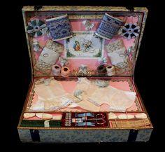A Fantastic Child's Antique Doll Underwear Embroidery Presentation Box 'Etude de Broderie Sur De Lingerie De Poupee' – Very Rare