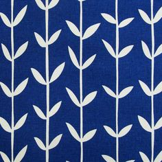 Orla Orla Kiely, Nifty, Cotton Linen, Blue And White, Textiles, Skinny, Prints, Projects