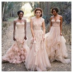 Blush wedding dresses, beautiful