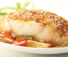 Recipe: Sesame-roasted Halibut with Sweet and Spicy Rhubarb Sauce
