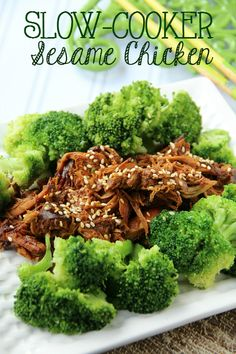 Try this homemade take on a classic Chinese takeout dish. It's practically effortless! Slow Cooker Sesame Chicken