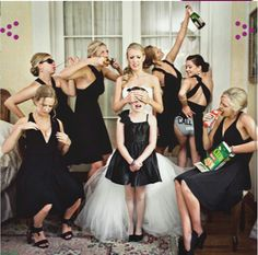 Untraditional Bridal Party Pictures