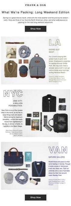 Frank & Oak : Packing List