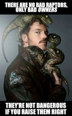 Jurassic World Chris Pratt and Raptor meme