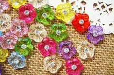 10 pièces de boutons en plastique, boutons motif fleur, boutons en nacre 150mm…