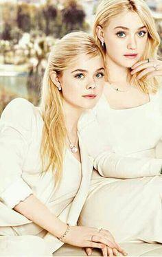 Fanning Sisters. Dakota is #dramaticclassic, Elle is #classic #Kibbe