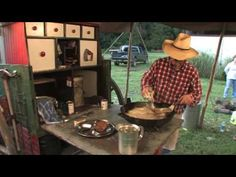 Chicken Fried Steak with Kent Rollins (Sidenote: Cubed round steak works as… Cast Iron Cooking, Oven Cooking, Camping Cooking, Dutch Oven Recipes, Cooking Recipes, Kent Rollins, Best Selling Cookbooks, Dutch Oven Camping, Round Steak