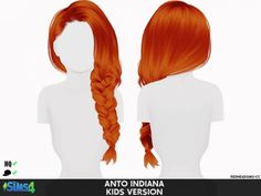 ANTO INDIANA HAIR KIDS AND TODDLER VERSION at REDHEADSIMS – Coupure Electrique • Sims 4 Updates