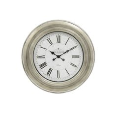 Café de Rouge Antique Silver 24-inch Wall Clock