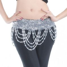 Cheap bellydance belt, Buy Quality belly dance belt directly from China dance belt Suppliers: Gold Silver Beads Oriental Belly Dance Bellydance Belt for Sale Women Waves Indian Dancing Accessories Waist Chain Stretch Waist