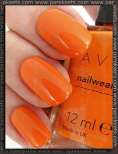 Orange nails :-) Yes I've got this one, just that my nails aren't as beautiful