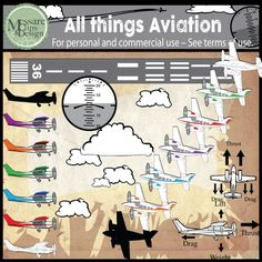 The ALL THINGS AVIATION is what it states. If you need it and its not already in the set, email me and I'll add it to the set. Set contains 60 individual high resolution graphics. All color graphics are shown in the thumbnails.