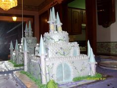 Castle Cake at a Princess and the Frog party #castlecake #princessfrog