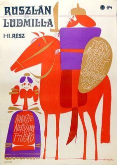 Kass János (graf.) : Ruszlán és Ludmilla I-II. rész Cut Paper Illustration, Polish Posters, Paper Cutting, Book Covers, Fundraising, Illustrators, Opera, Studio, Building