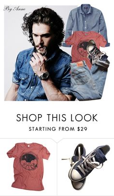 """Think"" by anne-977 ❤ liked on Polyvore featuring Converse, Levi's, men's fashion and menswear"