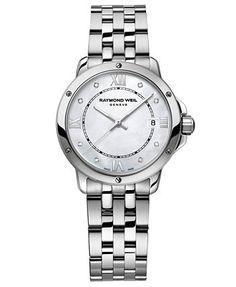 raymond weil womenu0027s swiss tango diamond accent stainless steel bracelet watch 28mm 5391st