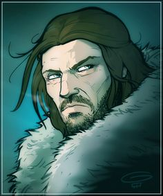 Eddard Stark.  Artist: Grant Gould  www.grantgould.com  www.grantgould.blogspot.com