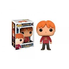 Bundled with Pop Box Protector Case Movies: Harry Potter Ron Weasley with Scabbers Vinyl Figure Funko Pop
