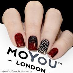 MoYou London Festive 37 Shellac Nails, Nail Manicure, Red Nails, Nail Polish, Cute Nails, Pretty Nails, Toe Nail Designs, Nails Design, Modern Nails