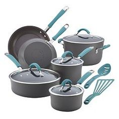Rachael Ray Cucina 12 Pc. Hard Anodized Nonstick Cookware Set