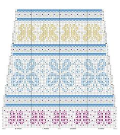 Loom Knitting Stitches, Fair Isle Knitting Patterns, Knitting Charts, Knitting Socks, Free Knitting, Crochet Chart, Knit Or Crochet, Filet Crochet, Crochet Patterns