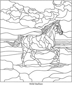 Horse stained glass pattern