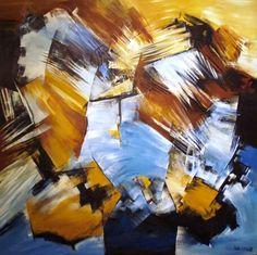 """""""No te despidas nunca que el mundo es redondo y perfecto"""" - Paula Weiszkopf -  Acrílico. 100 x 100 cm. www.esencialismo.com"""