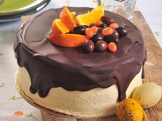 Látványos csokoládés narancstorta recept a húsvéti asztalra.