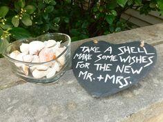 Beach Wedding Shell Blessing Sign by TiffanysWeddingShop on Etsy, $15.00