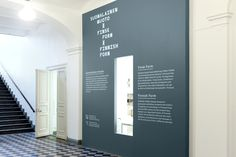 Type on wall- Design Museum on Behance