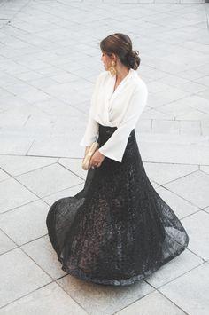 Loreto Gordo - Made in Style -  Paillettes - falda de lentejuelas - red carpet - wedding look - guest - look de invitada - total look 24FAB