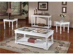 White Coffee And End Tables By Parker House Table With