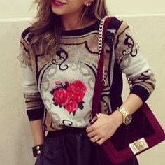 SWEATER: http://www.glamzelle.com/collections/sweaters/products/baroque-rose-sweater
