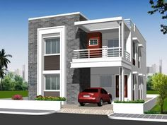 looking to buy residential independent house for sale in hyderabad? chandra shekhar residency is offering the best residential independent house for sale.Independent House Elevation Designs In Hyderabad Home - Independent House Front Elevation Photos 2 Storey House Design, Duplex House Plans, Bungalow House Design, House Front Design, Small House Design, Modern House Design, Front Elevation Designs, House Elevation, Philippines House Design