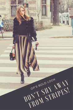 A little risk goes a long way. See how OP fearlessly rocks a patterned skirt.