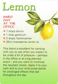 Stress reliver {Oil} recipe: Hard day!???! Try this Lemon oil
