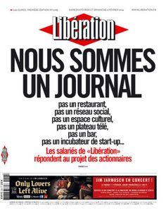 Los periodistas de 'Libération' se rebelan en portada