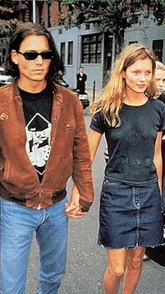 Johnny and Kate Moss at the Kids for Kids Benefit in New York City on September 25th, 1994