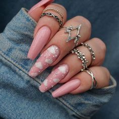 65 ideas for coffin nails: coffin nails (A. Ballerina Nails) 38 Unique Matte Nail Designs Ideas for This Fall – 30 stylish nail design inspirations – OCB 65 ideas for coffin nails: coffin nails (A. Ballerina Nails) Are you a delicate pink … Classy Nail Designs, Cute Acrylic Nail Designs, Long Nail Designs, Art Designs, Acrylic Nails With Design, Sparkle Nail Designs, Colorful Nail Designs, Design Art, Summer Acrylic Nails