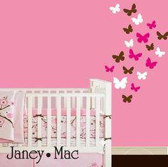 Butterfly Wall Decal - Vinyl Wall Art Butterflies - Children's Bedroom - Girls Nursery Wall Art - Kids Wall Sticker - CG107A