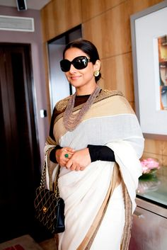So classy and regal and simple at the same time..Exclusive: Sabysachi on Vidya Balan's Cannes wardrobe
