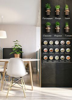 A blackboard is a great way to add style and function to your kitchen. Take this display of herbs and spices for instance, it's such an easy project to tackle this summer!