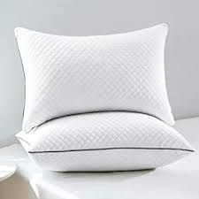"""When it comes to sleeping on your back, you must opt for medium or high-loft pillows that ensure spinal alignment. Your neck should be in a neutral position — in a straight line with your back and hips. There are a lot of factors that determine what the best back sleeping pillows on Amazon 2002 are. Elite Rest Contour Sleeper is one of the best back sleeping pillows because it's a memory foam contour pillow with an inbuilt neck roll and a loft height ranging from 4"""" to 2.75"""". Hotel Pillows, Buy Pillows, Small Pillows, Fluffy Bedding, Fluffy Pillows, Best Pillow, Pillow Set"""