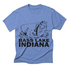 bass-lake-indiana mens triblend-t-shirt in blue_triblend